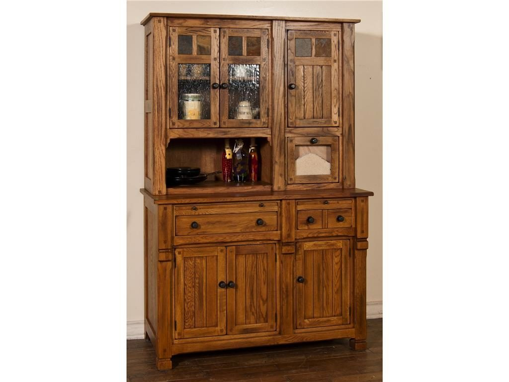 Furniture Antique Wooden Hutches For Classic Home Furniture Ideas