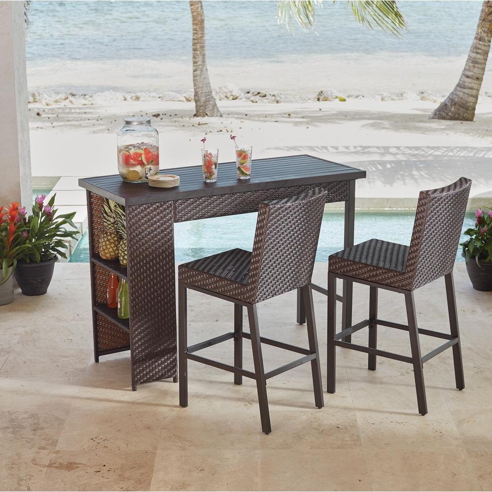 Hampton Bay Bar Height Dining Sets Outdoor Bar Furniture The
