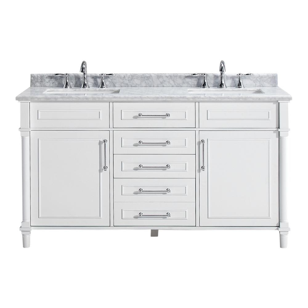 Home Decorators Collection Aberdeen 60 In W Double Vanity In White