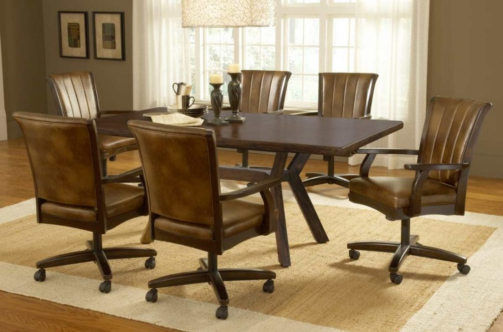 Ideas For Dining Chairs With Casters 17579 Room Sets Kitchen Signs