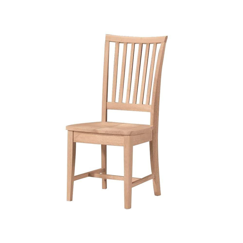 International Concepts Unfinished Wood Mission Dining Chair Set Of
