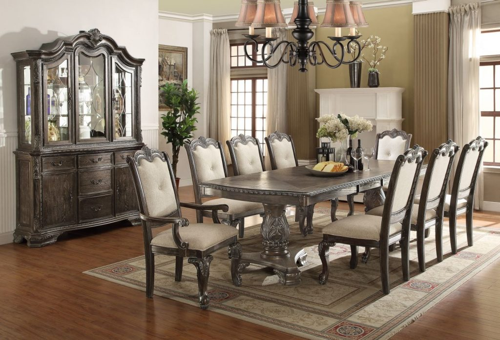 Kiera Formal Grey Dining Room Set 2151 Crown Mark