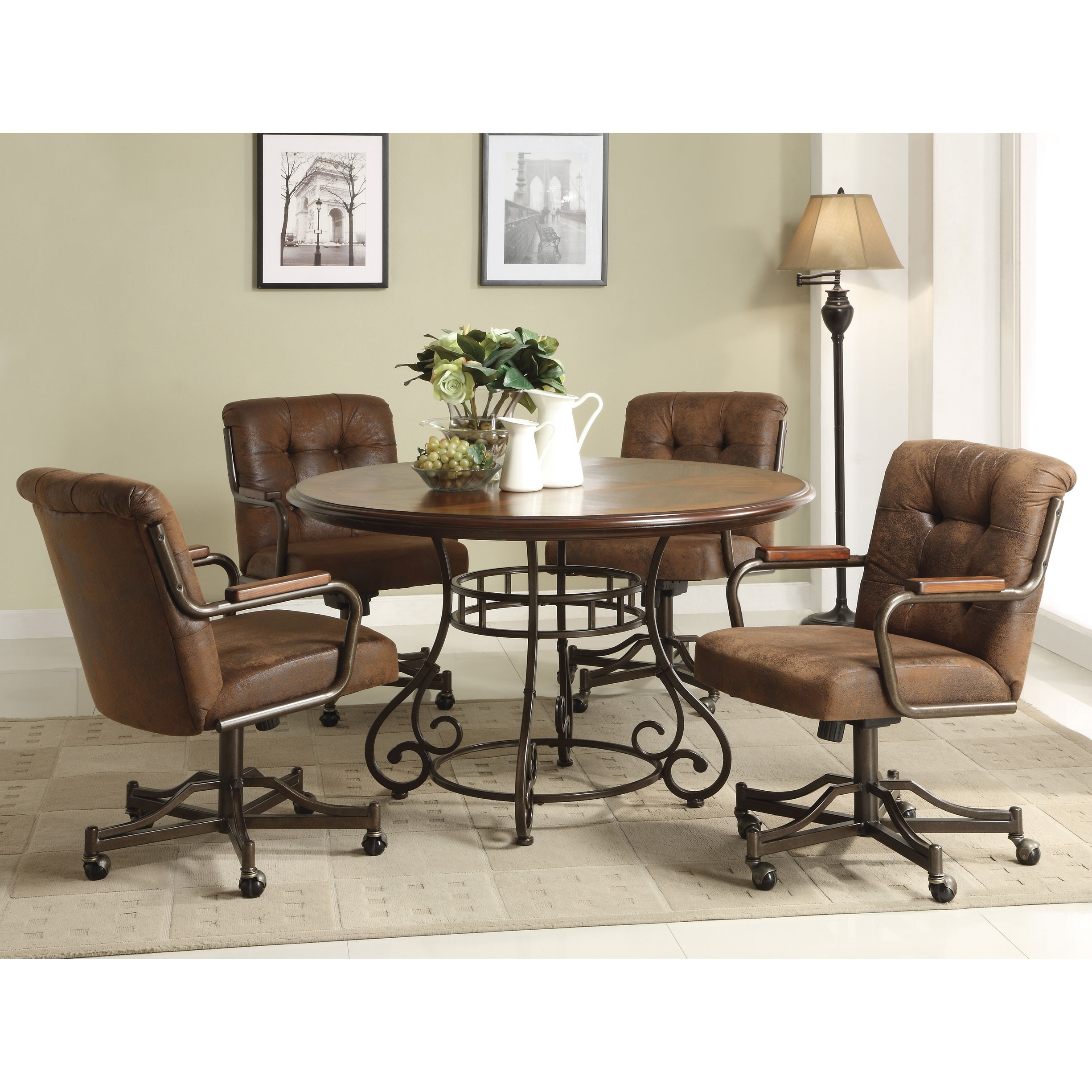 Picture of: Kitchen Table Sets With Roller Chairs Kitchen Chairs Ideas Layjao