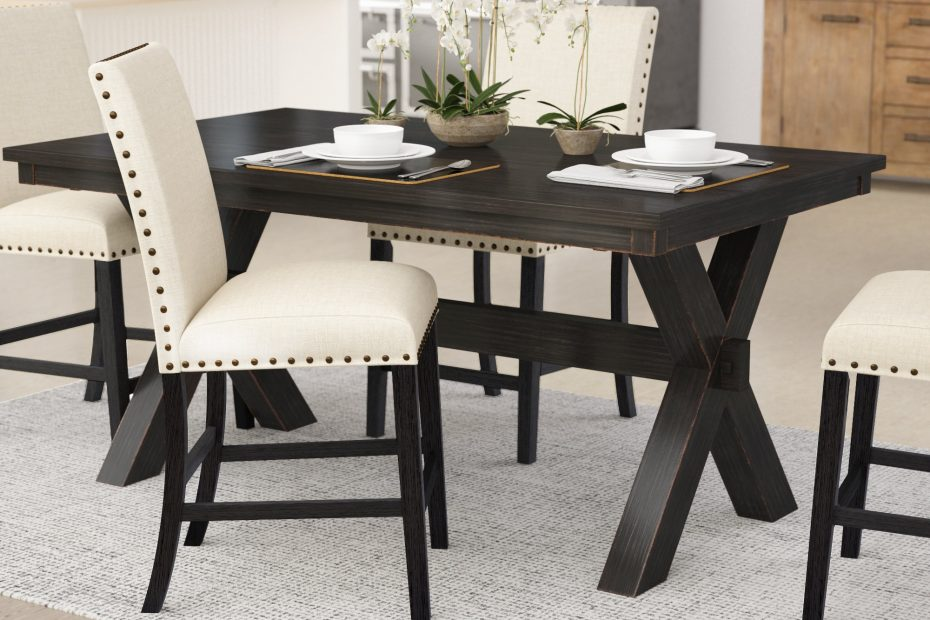 Laurel Foundry Modern Farmhouse Manitou Transitional Dining Table