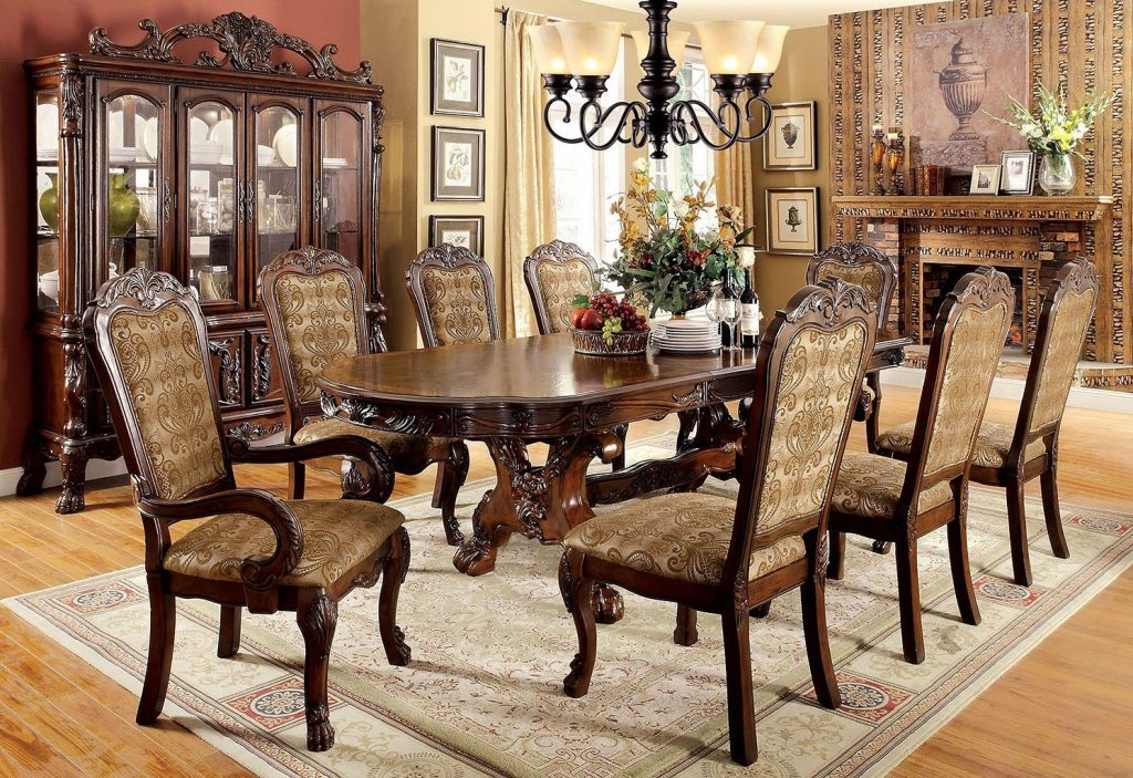 Medieve Dining Room Set Cherry Dining Room And Kitchen Furniture