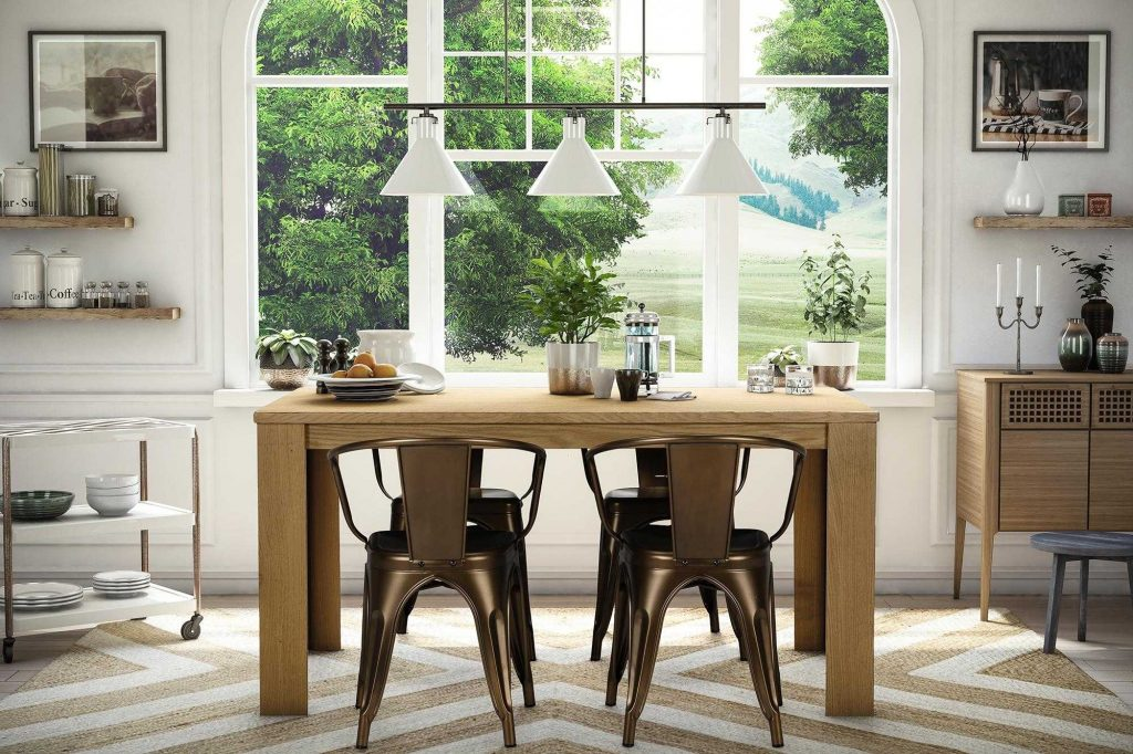 Metal Dining Room Table Ideas And Beautiful Chairs For Heavy People