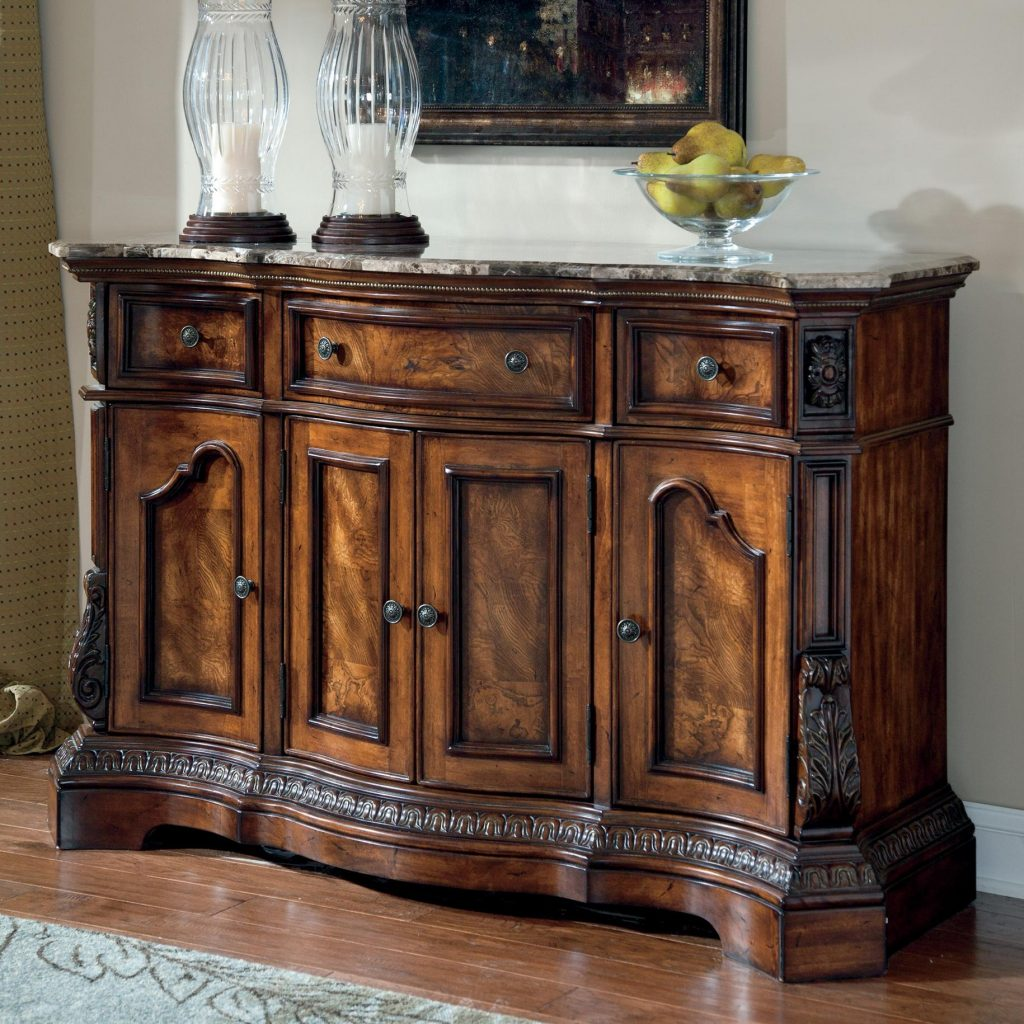 Millennium Ledelle Traditional Dining Room Server With Marble Top