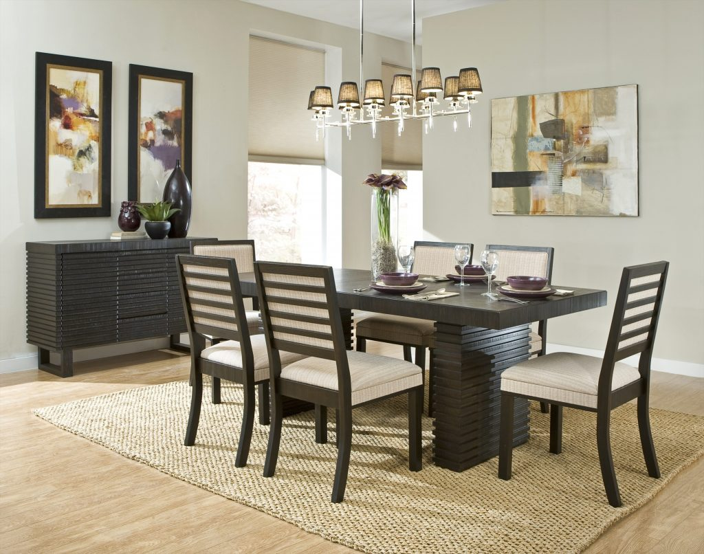 Modern Dining Room Design Ideas Come With Cool Chandelier And Area