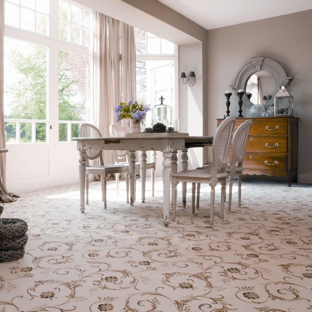 Patterned Bright Carpet Diningroom Interiordesign Carpetright