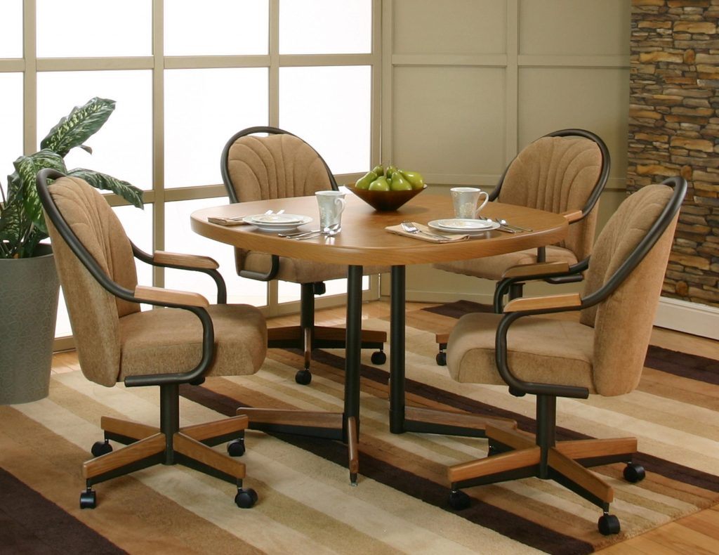Popular Dining Room Chairs With Casters And Its Interior Furniture