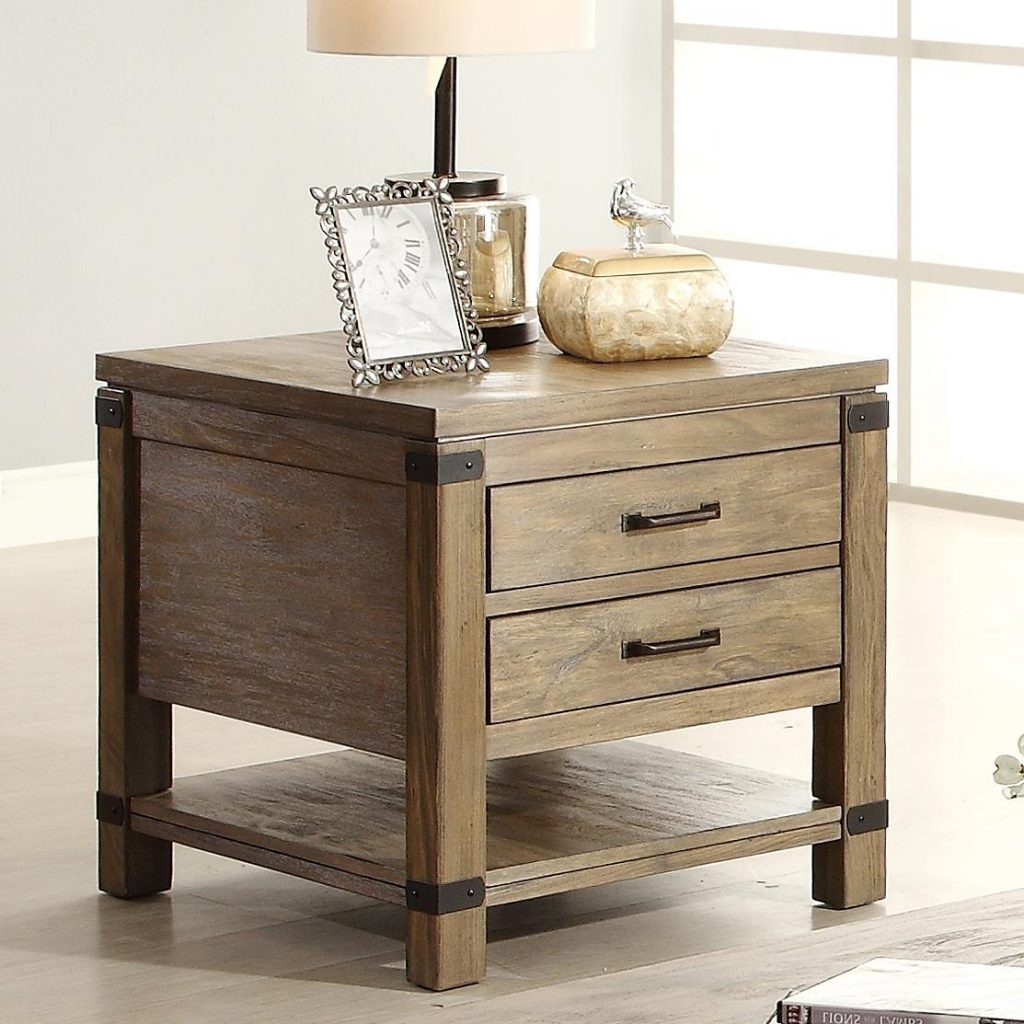 Rectangular 2 Drawer End Table With 1 Shelf Riverside Furniture