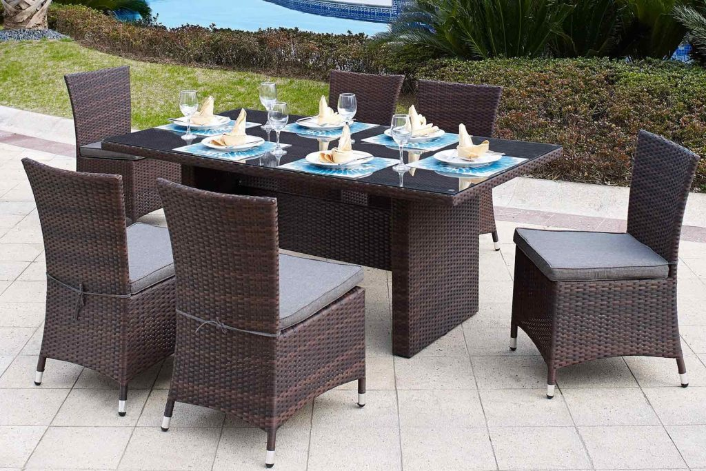 Reed 7 Pc Patio Dining Set