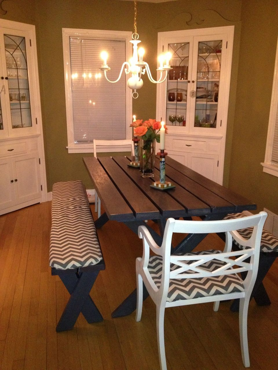 Refurbished From An Oldbeat Up Picnic Table To A Chic Gray Dining