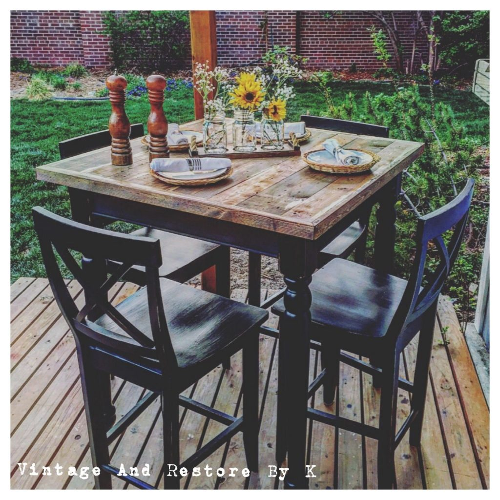 Rustic Painted Furniture High Top Table Redo In 2018 Furniture