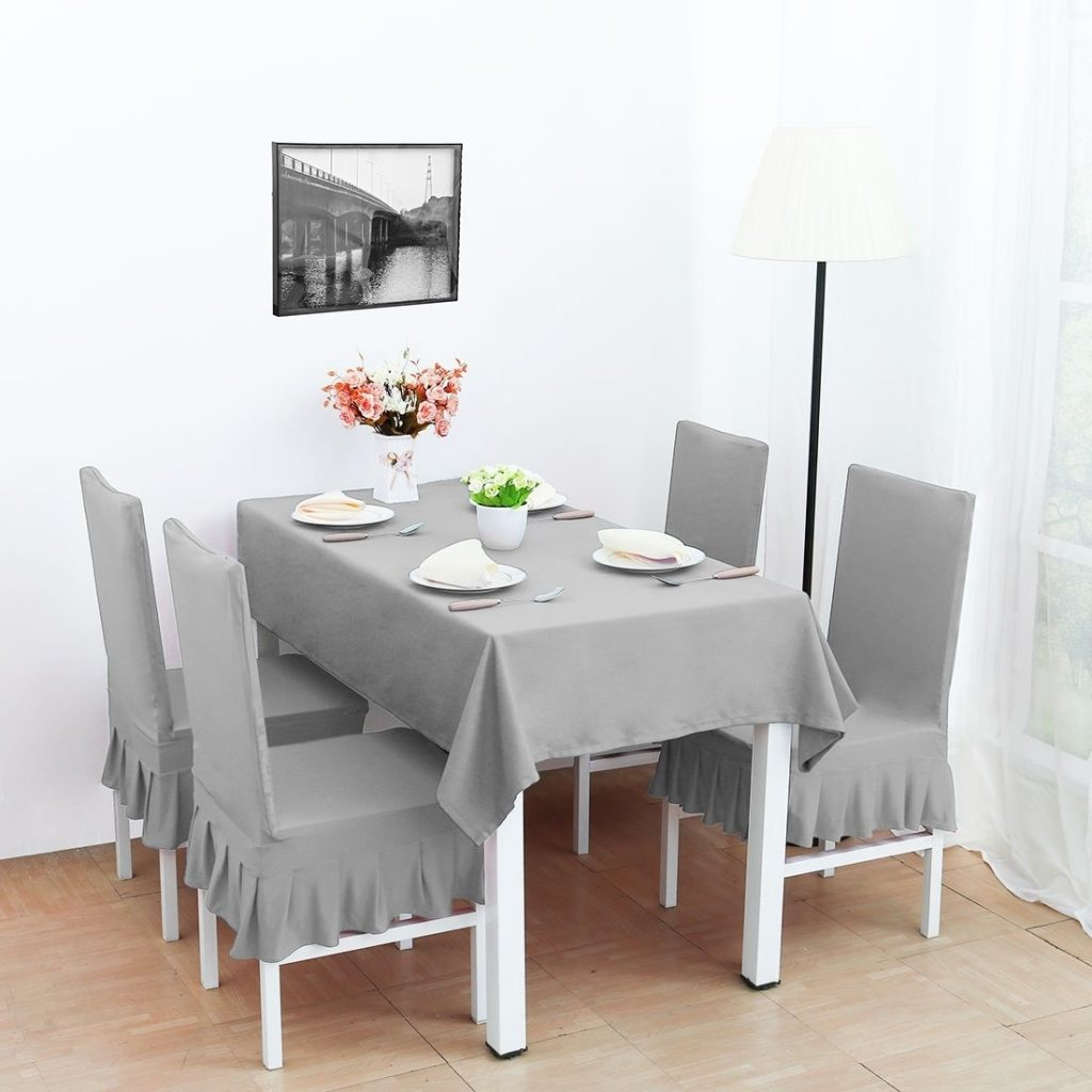 Shop 4pcs Stretch Dining Room Chair Covers Seat Protector On Sale