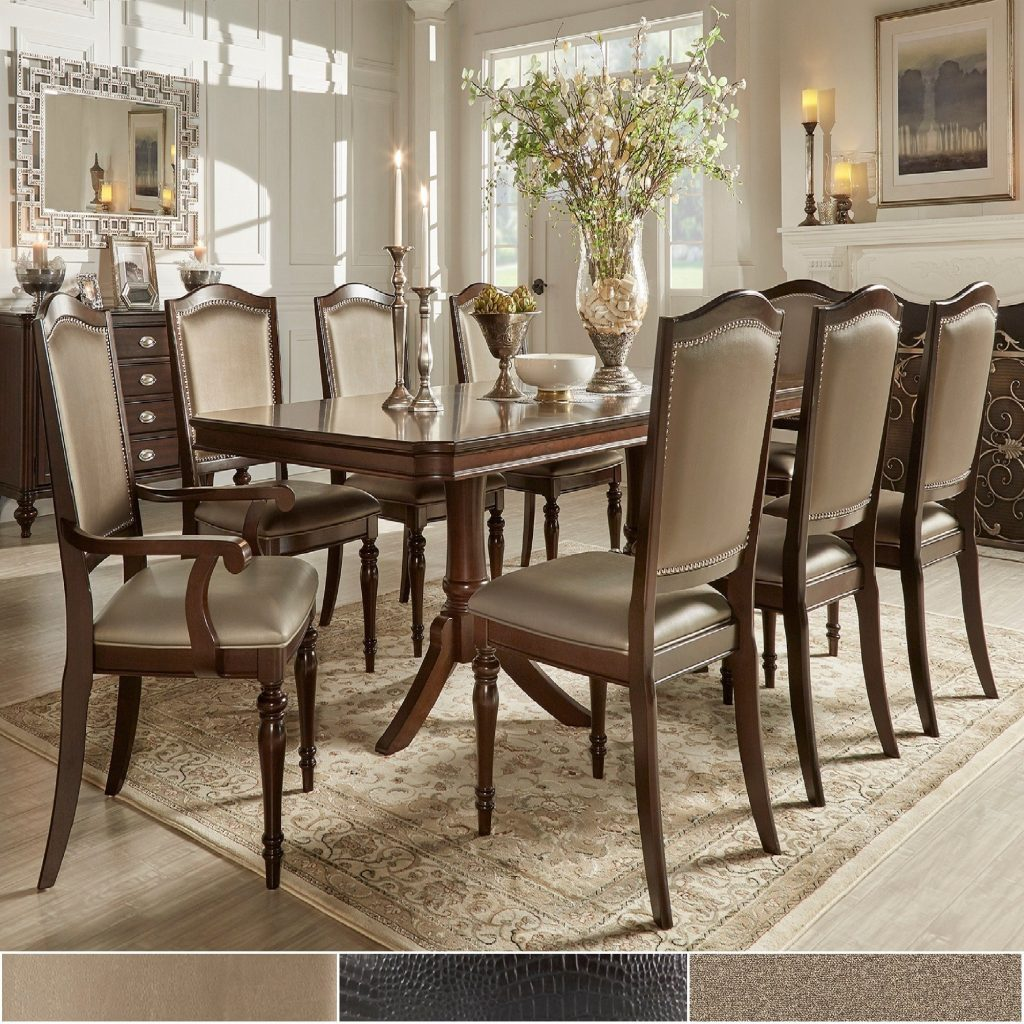 Shop Lasalle Espresso Nail Head Accent Transitional Dining Side