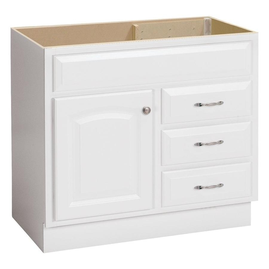 Shop Project Source White Bathroom Vanity Common 36 In X 21 In