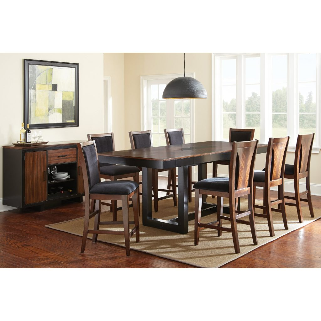 Steve Silver Julian 9 Piece Counter Height Dining Table Set With