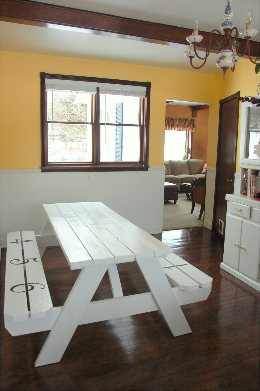 Unbelievable Picnic Table Dining Room Copy Use Picnic Table As