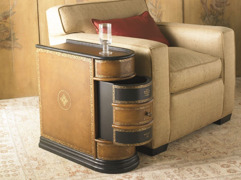 Upscale Round Coffee Table Drawers End Tables End Table Set End