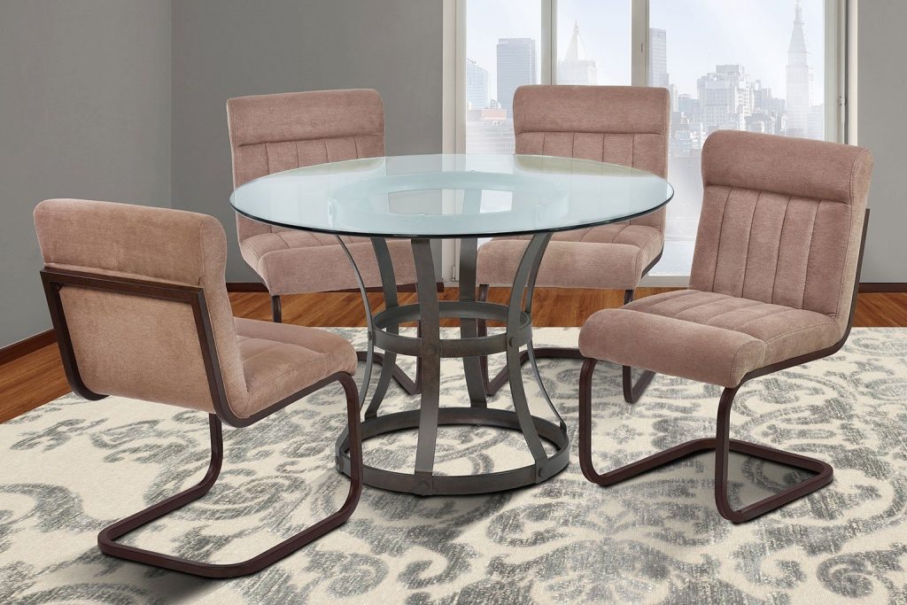 Vancouver Dining Room Set W Brown Side Chairs Auburn Bay Armen