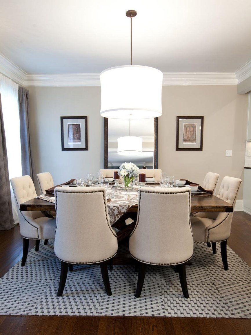 Why Carpet Tiles Are The Right Rug For The Dining Room Decor