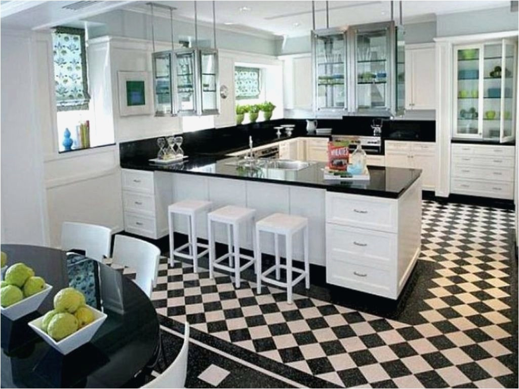10 Creative Black And White Kitchen Floor Tile Ideas For 2018 Layjao