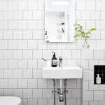 Square White Tile Bathroom