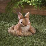1295 695 Curious Bunny Garden Decor Rabbit Stone Porch Patio