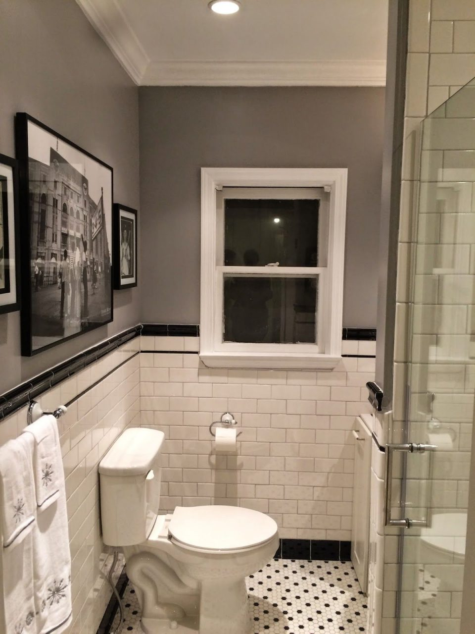 1920s Bathroom Remodel Subway Tile Penny Tile Floor Project