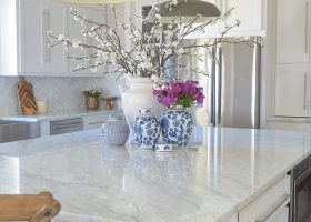 Blue with White Kitchen Island Ideas
