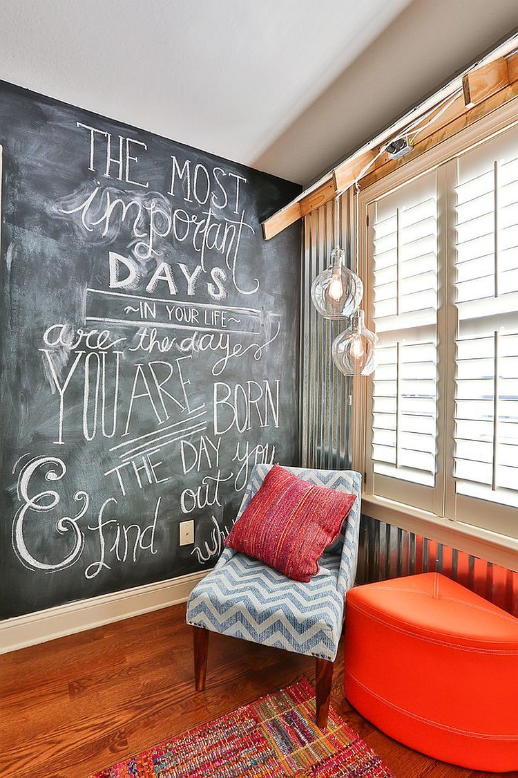35 Bedrooms That Revel In The Beauty Of Chalkboard Paint Reading