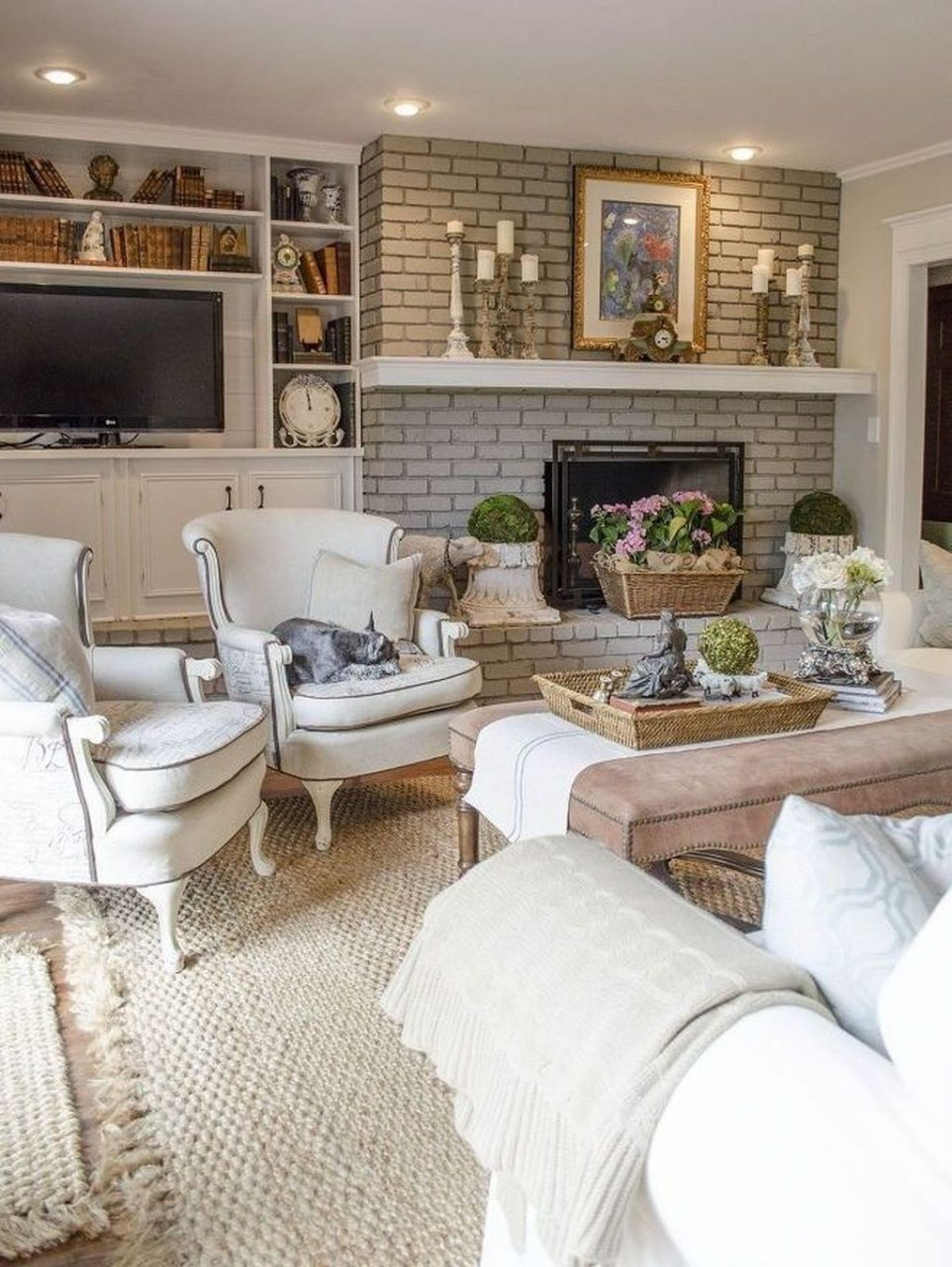 49 Cozy French Country Living Room Decor Ideas French Country