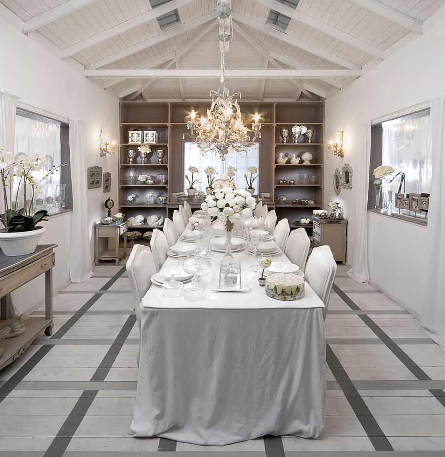 6 View In Gallery An All White Dining Room Captures The Festive