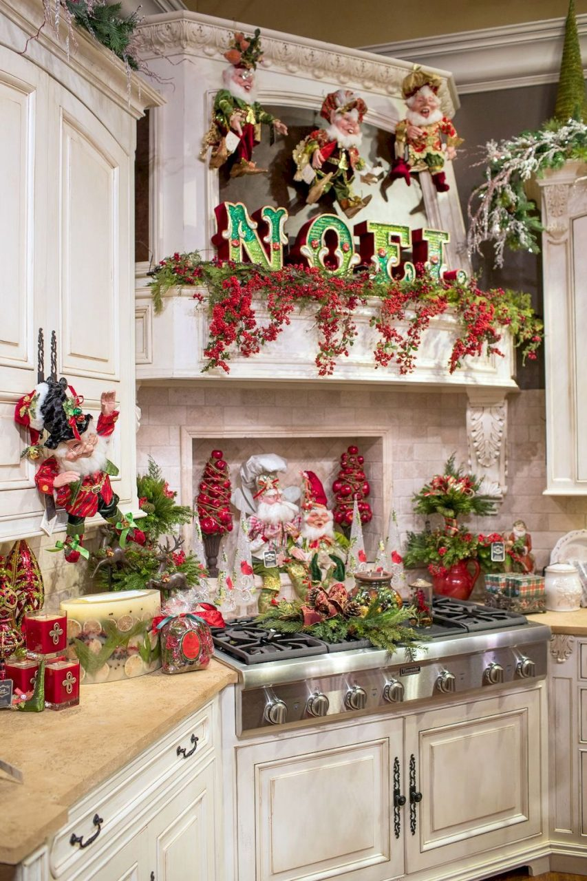 60 Modern Kitchen Christmas Decorating Ideas Kitchen Decor And