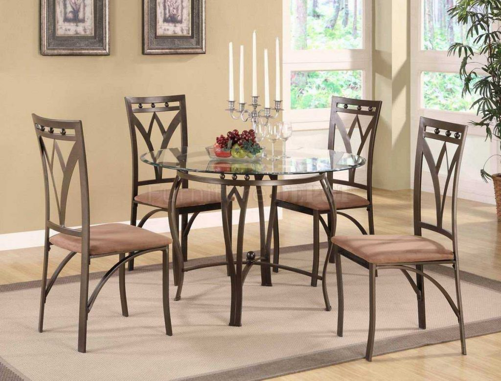 8 Stunning Metal Dining Room Table And Chairs Inspirations With For