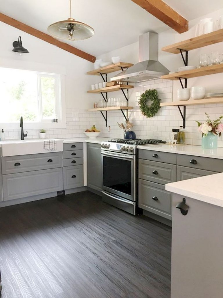 80 Awesome Rustic Farmhouse Kitchen Cabinets Decor Ideas Of Your