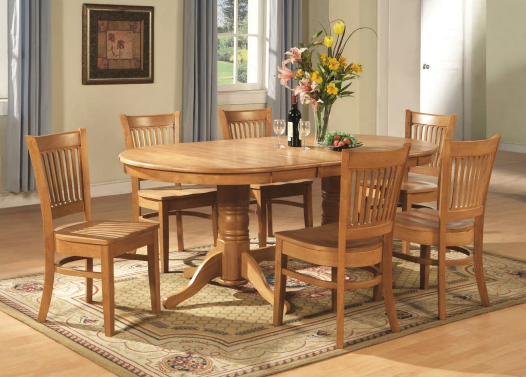 9 Pc Vancouver Oval Dinette Kitchen Dining Room Set Table Grey