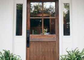 Wood Front Door Farmhouse