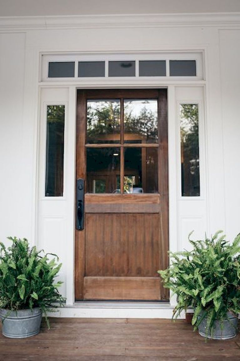 90 Awesome Front Door Farmhouse Entrance Decor Ideas 43 House
