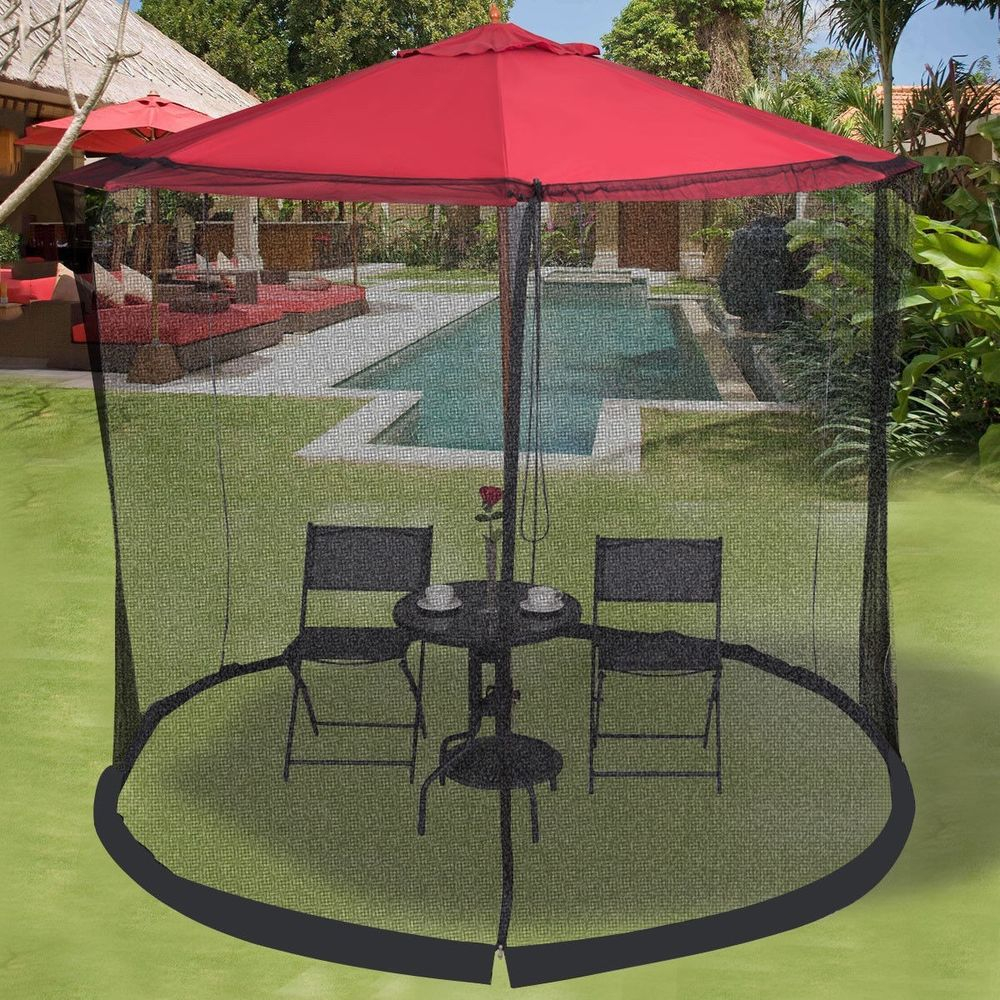 910ft Outdoor Patio Umbrella Table Screen Mosquito Bug Insect Net