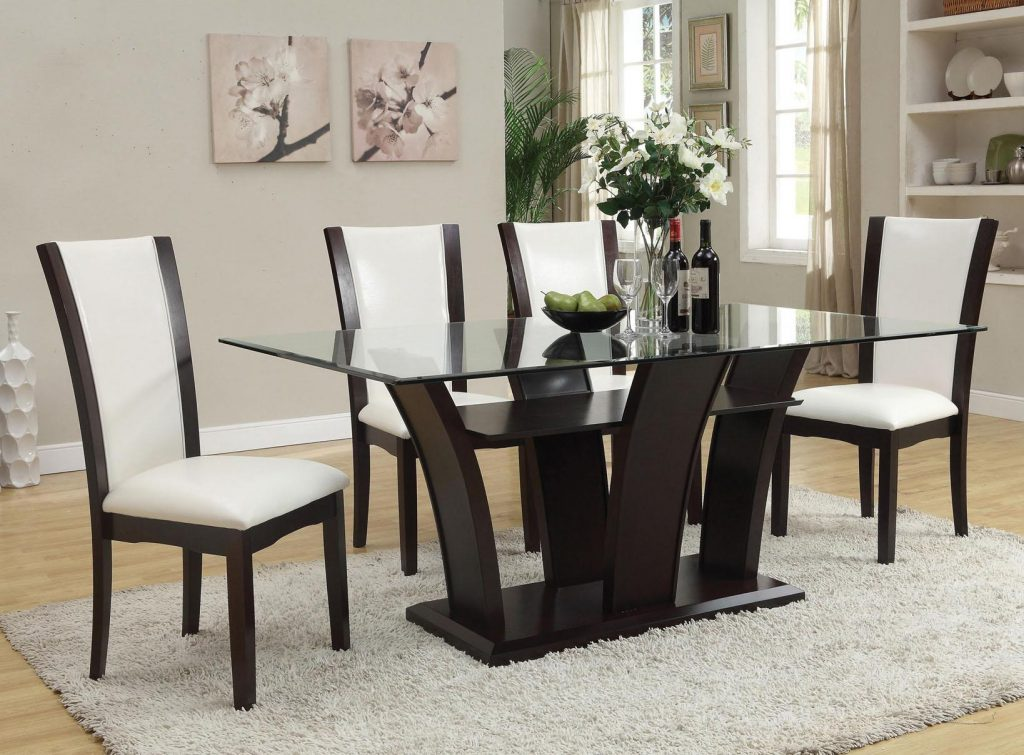 Acme Furniture Malik 5 Piece Dining Rectangular Table And Chair Set