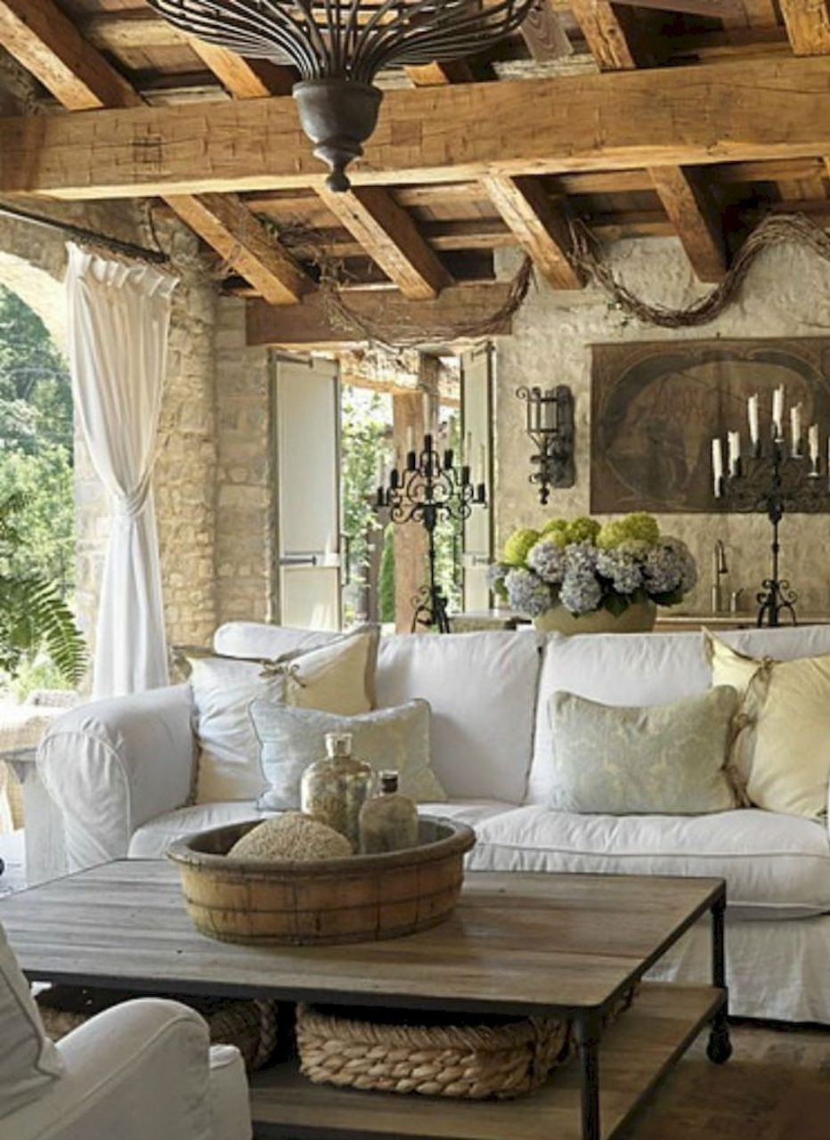 Adorable 90 Gorgeous French Country Living Room Decor Ideas Country
