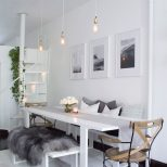All White Scandinavian Dining Room Dining Table Interior Design