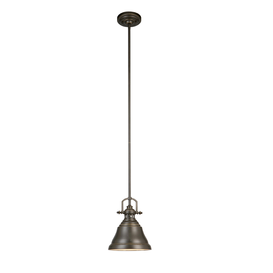 Allen Roth Bronze Mini Industrial Bell Pendant At Lowes