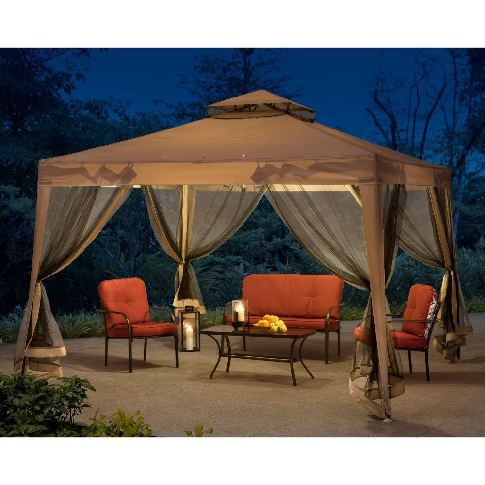Amazon Sunjoy 10x10softtop Steel Gazebo With Netting