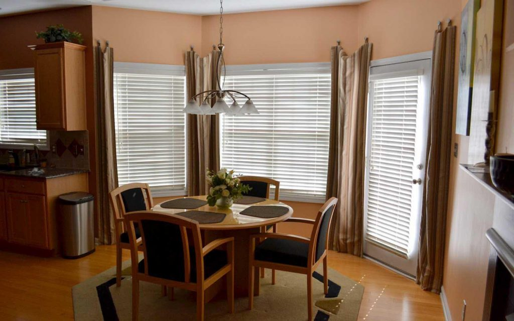 Arched Dining Room Window Treatments Dining Room Window Treatments