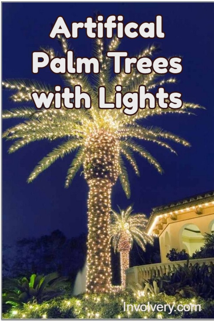 Artificial Lighted Palm Trees Best Fake Palm Trees With Lights 2019