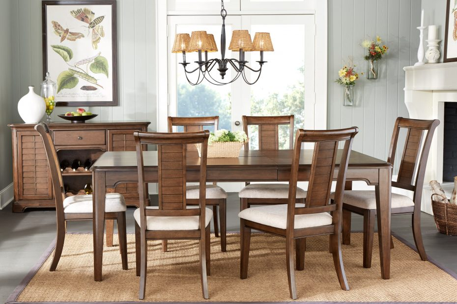 Atlanta 5 Pc Dining Room Dining Room Sets Dark Wood