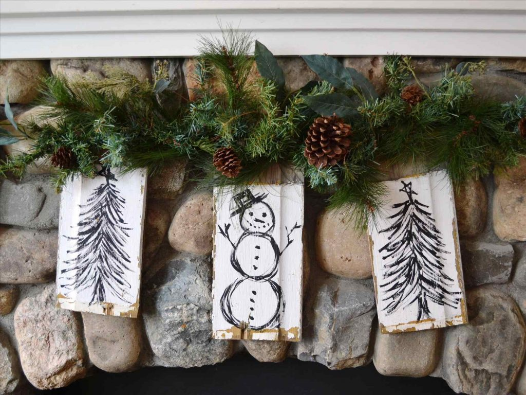 Awesome Comfortable Rustic Christmas Decoration Ideas For Outdoor Of
